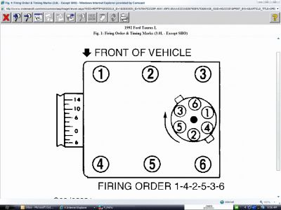 1992 ford taurus firing order of spark plugs rh 2carpros com