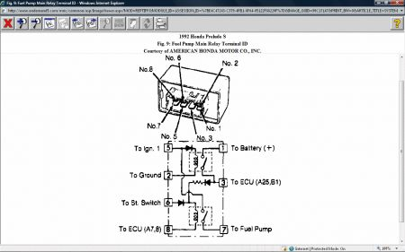 gm fuel pump relay wiring diagram free picture honda prelude fuel pump relay wiring diagram