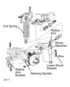 1992 ford ranger replacing coil springs  suspension
