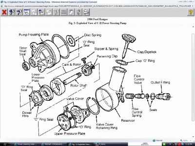 ford power steering pulley diagram