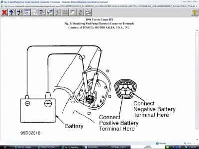 1986 toyota camry fuel pump location