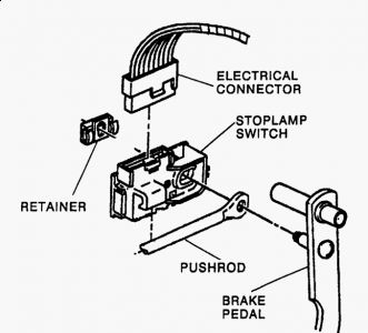 Gmc C1500 1997 Gmc C1500 Access To Brake Light Switch On Brake Pedal on 2009 silverado wiring diagram