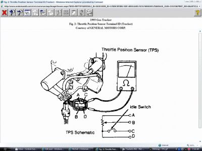 1994 geo tracker fuel pump relay location