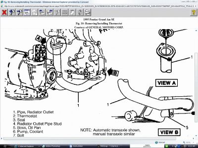 thermostat location where is the thermostat located on a 2 4l rh 2carpros com