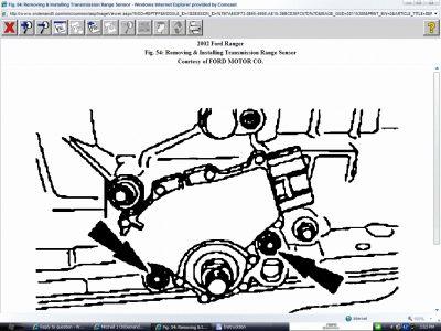 2002 Ford Ranger Transmission Range Sensor: Where Is the
