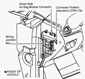 62217_conn_1 2003 oldsmobile alero airbag replacement (to replace horn s 2004 oldsmobile alero wiring diagram at sewacar.co