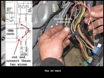 2001 ford taurus driver s power window electrical problem 2001 dont know if this is your problem using a test light on the connector while you operate the switch is the only way to out