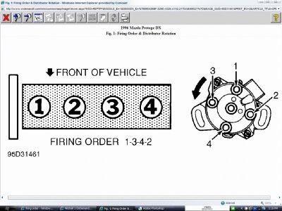 firing order what is the firing order on a 1996 mazda protoge 4 rh 2carpros com 1999 Mazda Miata 1.8L Alternator Electrical Diagram Heating Hose Diagram for 1999 Mazda 1.6 Engine