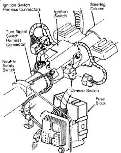 Oldsmobile Steering Column Wiring likewise 94 S10 Steering Column Wiring Diagram together with Wiring Diagram Universal Turn Signal Brake Light At Switch together with Jeep Steering Column Wiring Diagram additionally 1967 Chevy Pickup Wiring Diagram. on ididit steering column wiring diagram