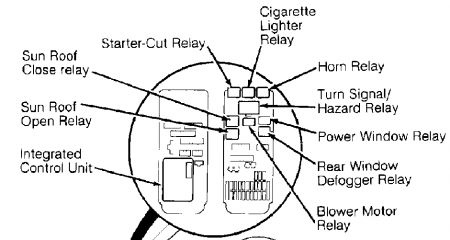 Honda Prelude 1993 Honda Prelude Tail Lightsparking Lights Out on 5 pin relay diagram