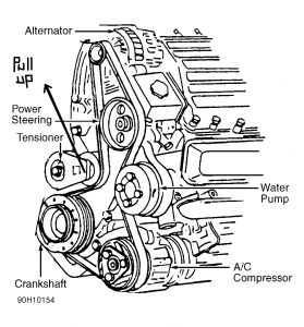 Belt on 1998 Buick Lesabre Belt Diagram