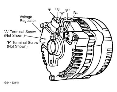 ford ranger alternator wiring wiring diagrams rh boltsoft net Ford 3G Alternator Wiring Ford 6G Alternator Wiring