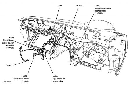 2004 Ford Explorer Blend Door Cold Position on acura 2008 wiring diagram