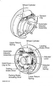 2004 chrysler strut diagram 2000 chrysler town and country rear drums with traction con