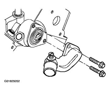 thermostat replacement  six cylinder front wheel drive