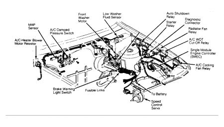 E46 Headlight Wiring Diagram furthermore Engine Block Freeze Plugs Location additionally Dodge Shadow Crank Sensor Location as well Nissan Frontier Cooling System Diagram as well 1996 Hyundai Elantra Mfi  ponents Engine Diagram. on bmw camshaft position sensor location