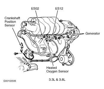 Caravan Crank Sensor on Dodge Caravan Crankshaft Position Sensor Location