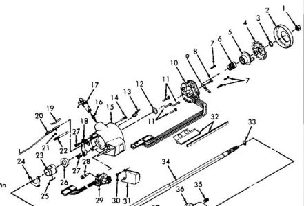Steering Column Ignition Rod Likewise 1969 Chevy C10 Wiring Diagram