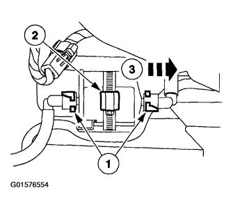 2003 ford taurus fuel filter  engine performance problem