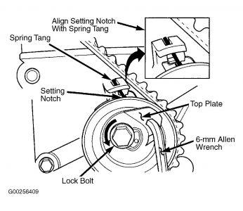 How to install and adjust timing belt tensioner pt cruiser forum http2carprosforumautomo87pt031g sciox Images