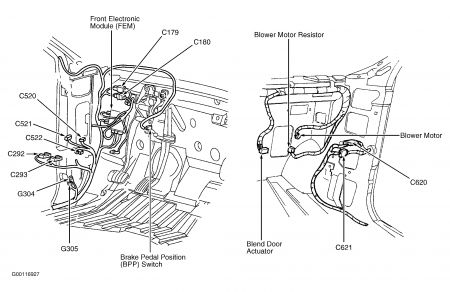 98 Ford Windstar Engine Diagram http://www.2carpros.com/questions/ford-windstar-2000-ford-windstar-2000windstar-blend-door-motor
