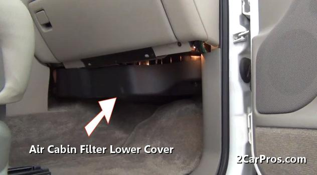 Air Cabin Filter Lower Cover