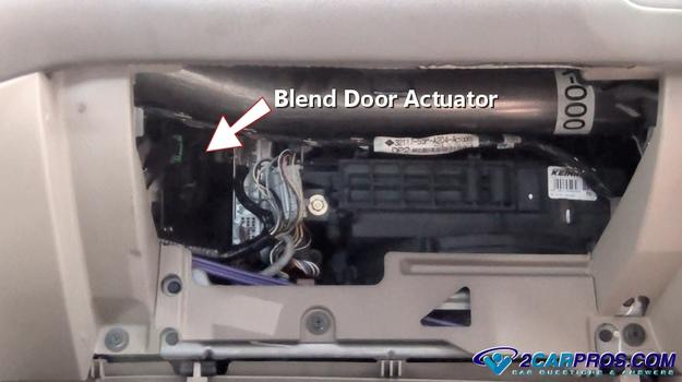 Bend Door Actuator on 2002 Dodge Dakota Blend Door