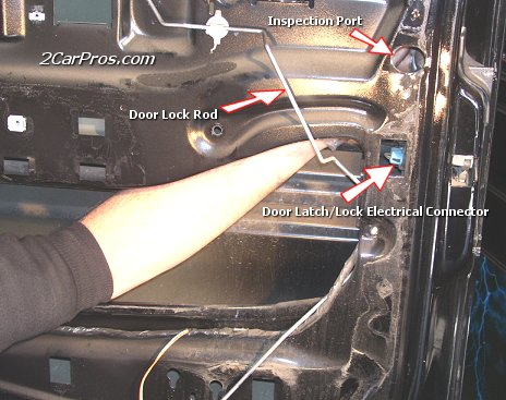 Disconnect Door Control Rods & Car Repair World: Door Lock Replacement