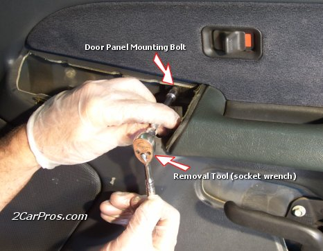 Locate and Remove Door Panel Bolts