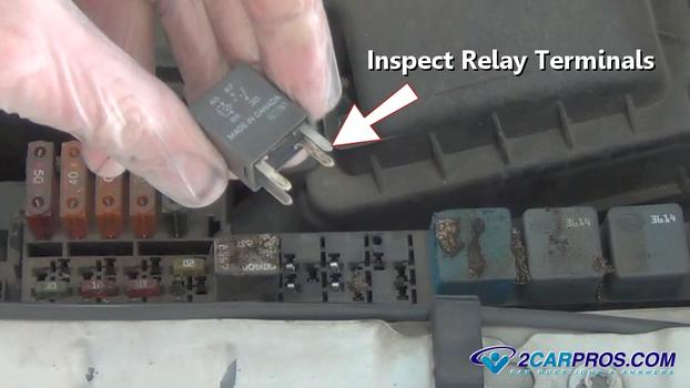 Inspecting Relay Terminals on 2003 Nissan 350z Fuse Box Location