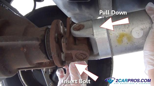 how to go about connecting gearbox to drive shaft