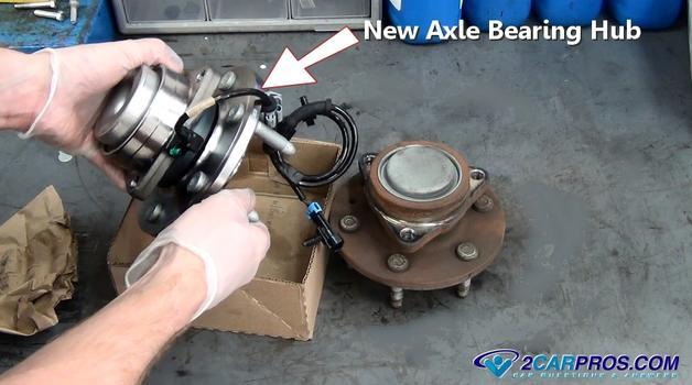 Axle bearing hub