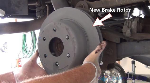 New Brake Rotor Installation