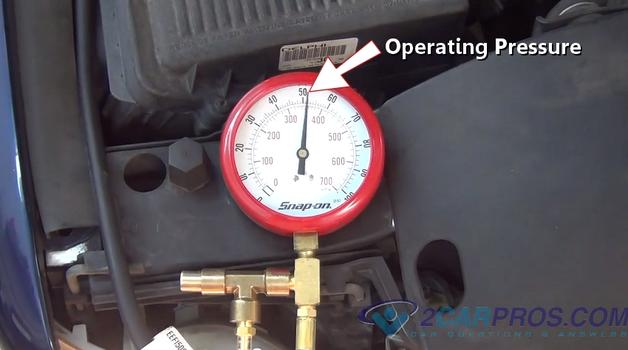 Operating Pressure on 2000 Lincoln Fuel Pump
