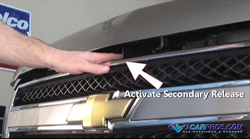 Activate Secondary Release on 2003 Dodge Dakota Hood