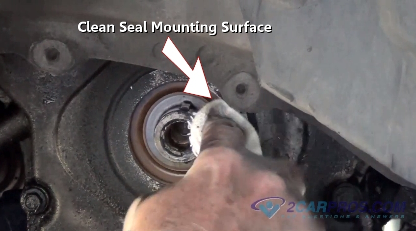 service manual  how to replace crankshaft seal on a 1998