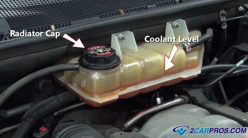 Coolant Reservoir Radiator Cap on 2005 Ford Taurus Engine Diagram