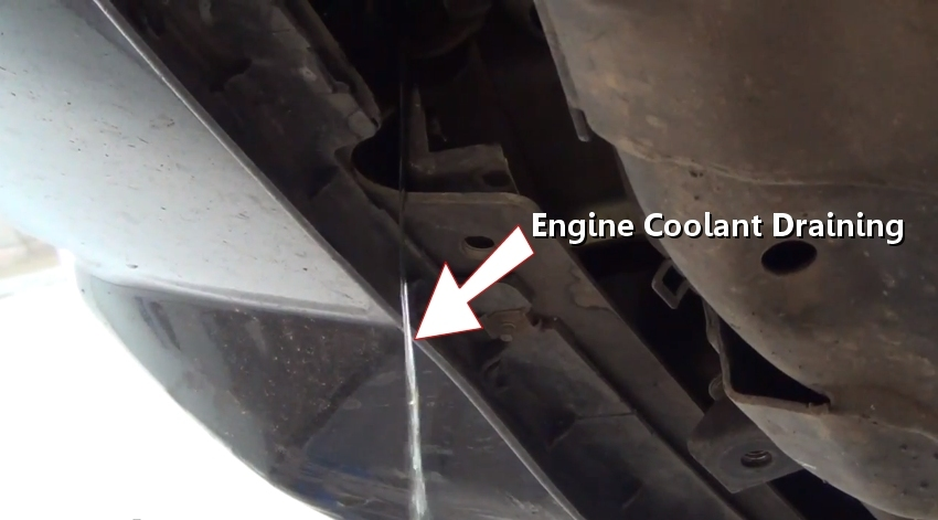 Coolant Draining on Mazda 6 Battery Location