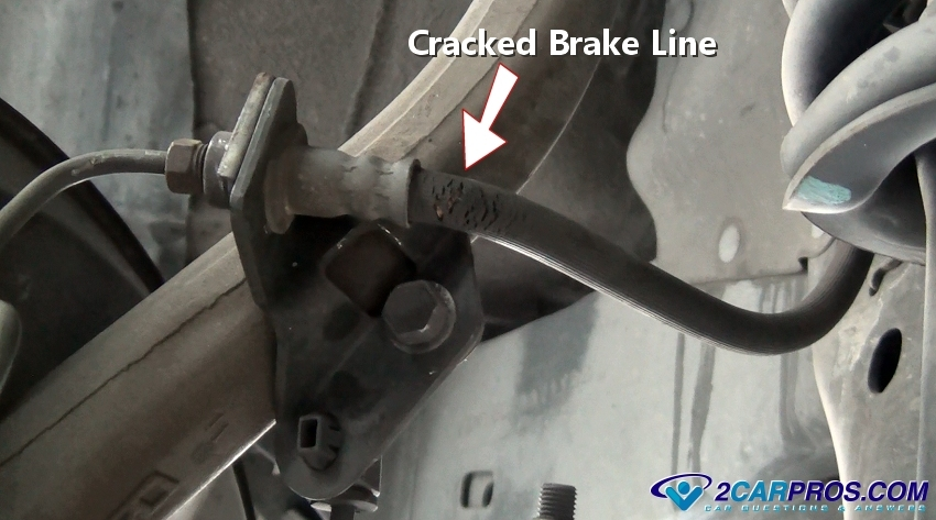 Cracked Brake Hose on Chevy Impala Parking Brake