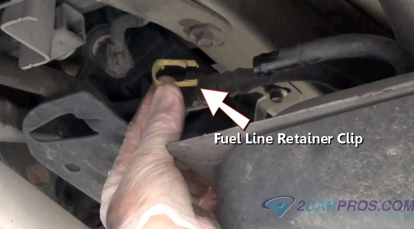 fuel_line_retainer_clip how to replace a fuel pump in under 2 hours