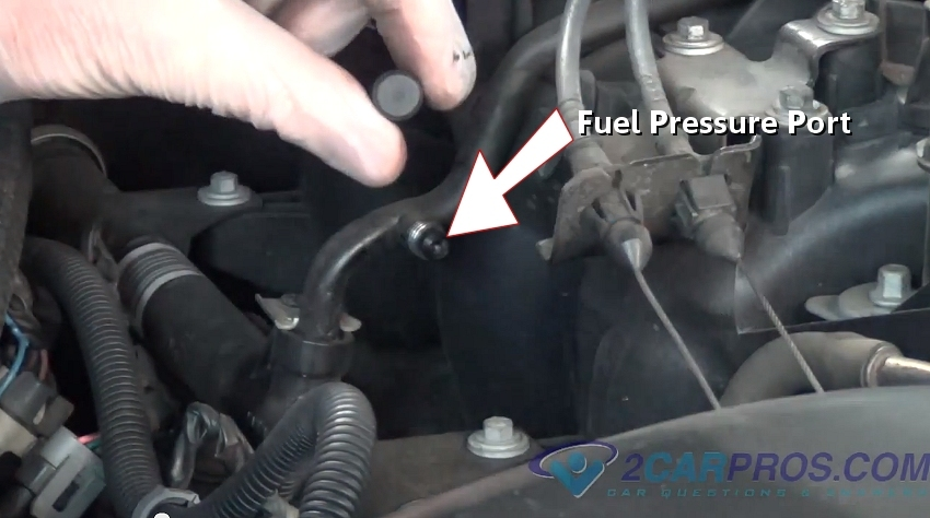 Fuel Pressure Port on 2004 toyota 4runner fuel filter location