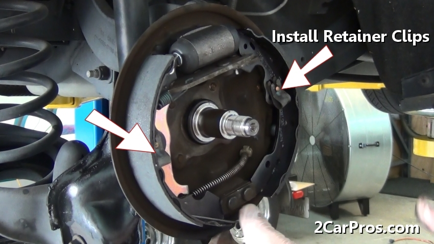 Once The Retainer Clips Have Been Installed Reposition And Attach Lower Brake Spring Using A Pair Of Side Cutters S