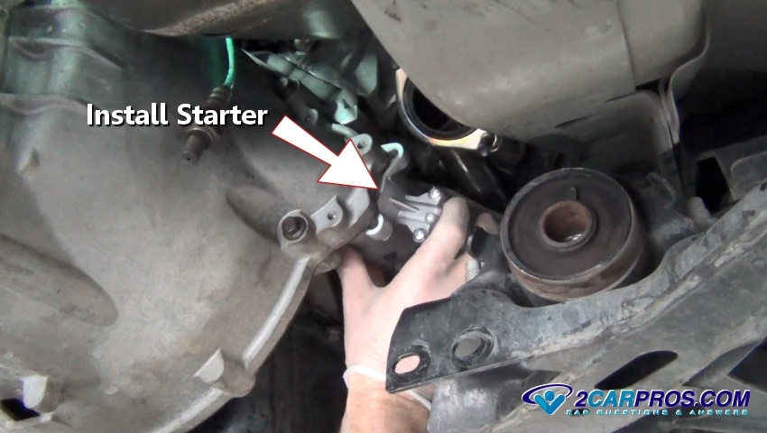 how to change a starter motor in 45 minutes