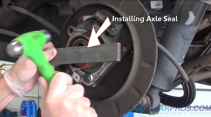 Car Repair World Rear Axle Seal Replacement Part 2