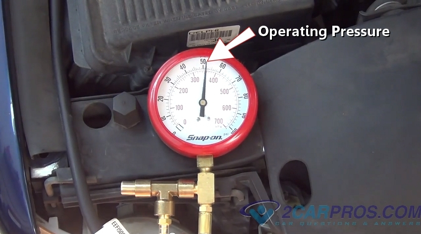 Operating Pressure on ford taurus fuel pump relay
