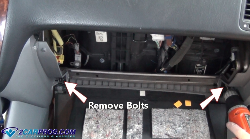Now That The Glove Box And Cross Bracing Have Been Removed It Will Allow  You To Gain Access To The Cabin Filter Hatch Door. These Doors Are Usually  Held In ...