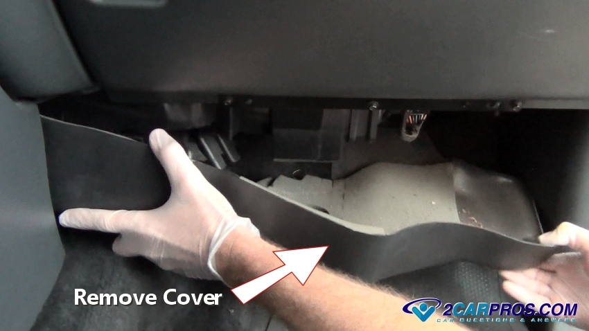remove under dash cover how to replace a blend door actuator in under 15 minutes  at crackthecode.co