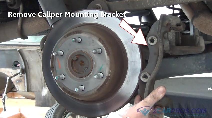 How do I remove the brake disc
