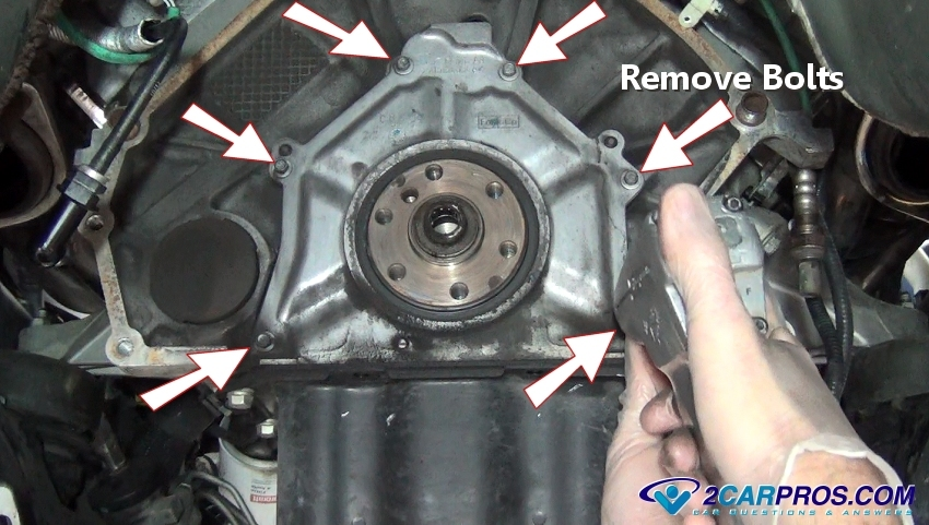 Removing Rear Main Seal Housing Bolts on 2007 Ford F150 Bearing Replacement