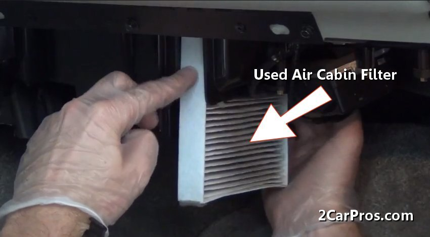 Removing Air Cabin Filter on 2003 Chevy Silverado Blower Motor Resistor Location